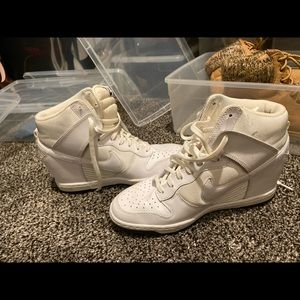 White high top Nike's